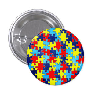 Autism Awareness-Puzzle by Shirley Taylor Pinback Button