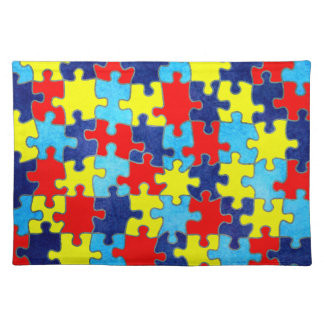 Autism Awareness-Puzzle by Shirley Taylor Placemat