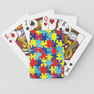 Autism Awareness-Puzzle by Shirley Taylor Playing Cards