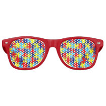 Autism Awareness-Puzzle by Shirley Taylor Retro Sunglasses