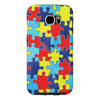 Autism Awareness-Puzzle by Shirley Taylor Samsung Galaxy S6 Case