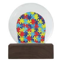 Autism Awareness-Puzzle by Shirley Taylor Snow Globe
