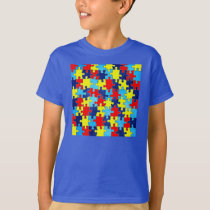 Autism Awareness-Puzzle by Shirley Taylor T-Shirt