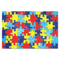 Autism Awareness-Puzzle by Shirley Taylor Tissue Paper