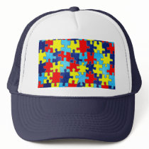 Autism Awareness-Puzzle by Shirley Taylor Trucker Hat