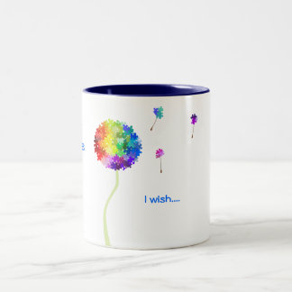 Autism Awareness Puzzle Dandelion Wishes Two-Tone Mug