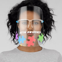 Autism Awareness Puzzle Face Shield