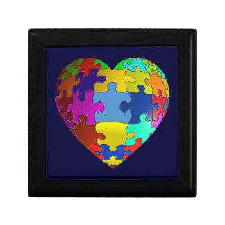 Autism Awareness Puzzle Heart Gift Boxes