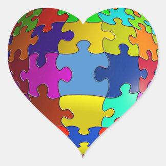 Autism Awareness Puzzle Heart Heart Sticker