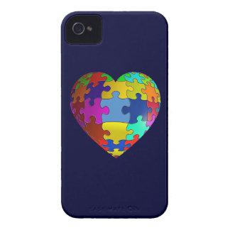 Autism Awareness Puzzle Heart iPhone 4 Cover