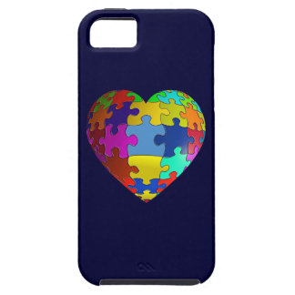 Autism Awareness Puzzle Heart iPhone 5 Cases