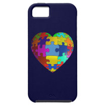 Autism Awareness Puzzle Heart iPhone SE/5/5s Case