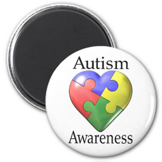 Autism Awareness Puzzle Heart Magnet