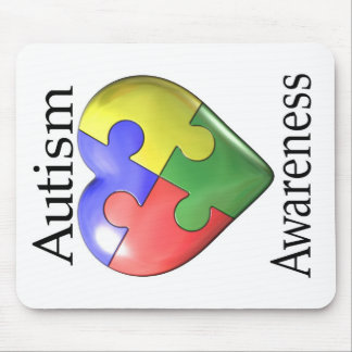 Autism Awareness Puzzle Heart Mouse Pad