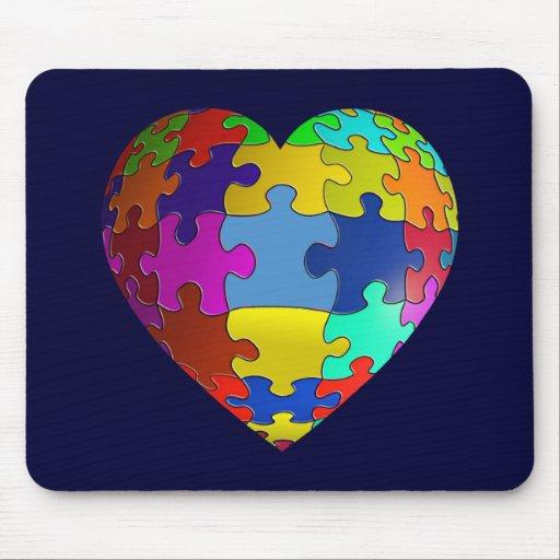 Autism Awareness Puzzle Heart Mousepad