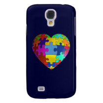Autism Awareness Puzzle Heart Samsung S4 Case