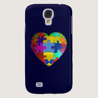 Autism Awareness Puzzle Heart Samsung S4 Case