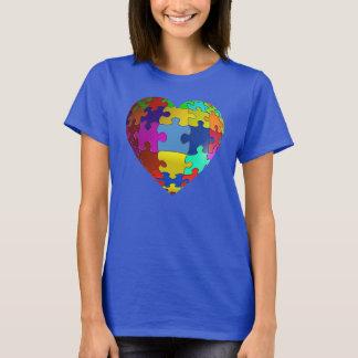 Autism Awareness Puzzle Heart T-shirt