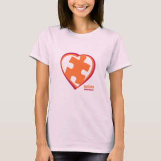 Autism Awareness Puzzle in Heart (PO) T-Shirt