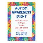 Autism Awareness puzzle invitation announcement