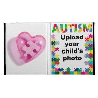 Autism Awareness Puzzle iPad Folio Case Cust