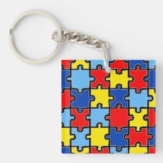 Autism Awareness Puzzle Key Chain