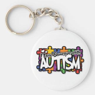 Autism Awareness Puzzle Keychain
