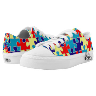 Autism Awareness Puzzle Low-Top Sneakers