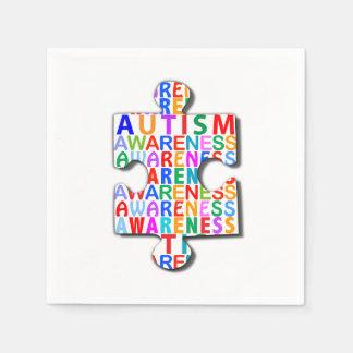 Autism Awareness Puzzle Napkin