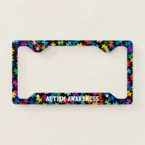 Autism Awareness Puzzle Pattern License Plate Frame