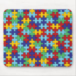 Autism Awareness Puzzle Pattern Mouse Pad