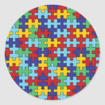 Autism Awareness Puzzle Pattern Stickers