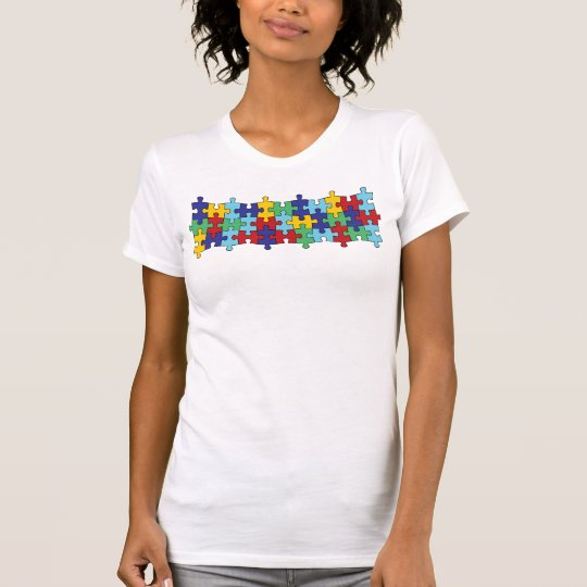 Autism Awareness Puzzle Pattern T-Shirt