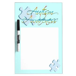 Autism Awareness Puzzle Piece Blue Dry Erase Board