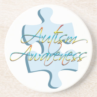 Autism Awareness Puzzle Piece Coaster