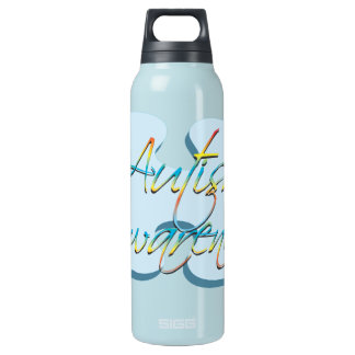 Autism Awareness Puzzle Piece Insulated Water Bottle