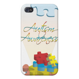 Autism Awareness Puzzle Piece  Covers For iPhone 4