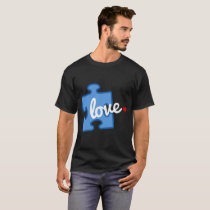 Autism Awareness Puzzle Piece Love Hanes Tagless T T-Shirt