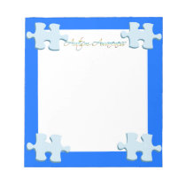 Autism Awareness Puzzle Piece Notepad