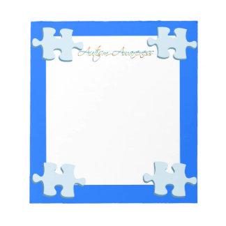 Autism Awareness Puzzle Piece Notepad