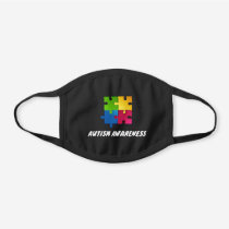 Autism Awareness Puzzle Piece Reusable Black Cotton Face Mask