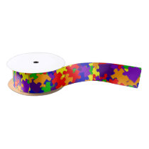 Autism Awareness Puzzle Piece Ribbon