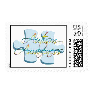 Autism Awareness Puzzle Piece Stamp