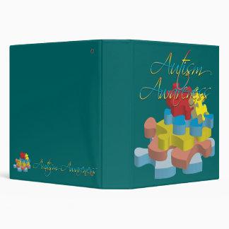 "Autism Awareness Puzzle Pieces 1.5"" Binder"