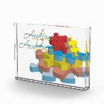 Autism Awareness Puzzle Pieces Acrylic Award