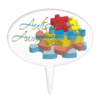 Autism Awareness Puzzle Pieces Cake Topper