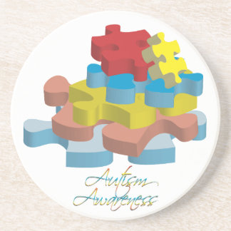 Autism Awareness Puzzle Pieces Coaster