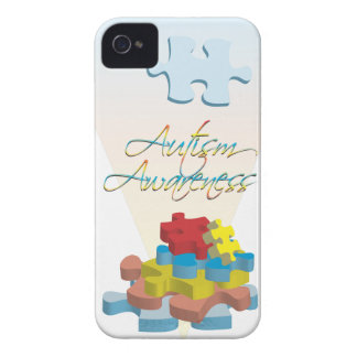 Autism Awareness Puzzle Pieces iPhone 4/4s Barely iPhone 4 Case-Mate Case