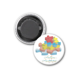 Autism Awareness Puzzle Pieces Magnet