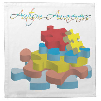 Autism Awareness Puzzle Pieces Napkin